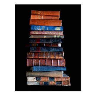 Postal Pila del vintage de libros viejos