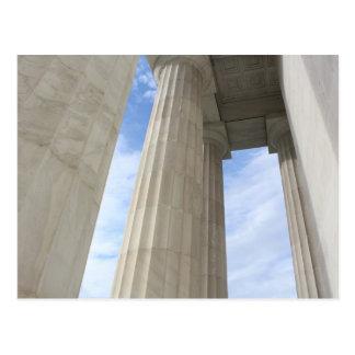 Postal Pilares que rodean el Lincoln memorial