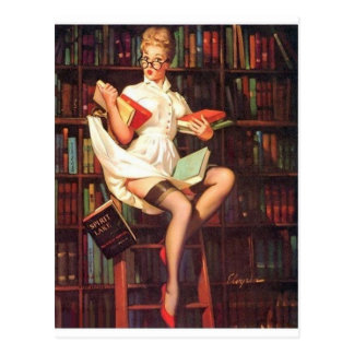 Postal Pin del bibliotecario para arriba