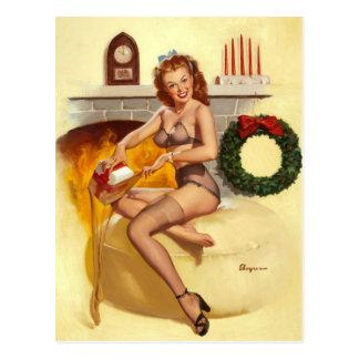 Postal Pin retro de Gil Elvgren del vintage encima del