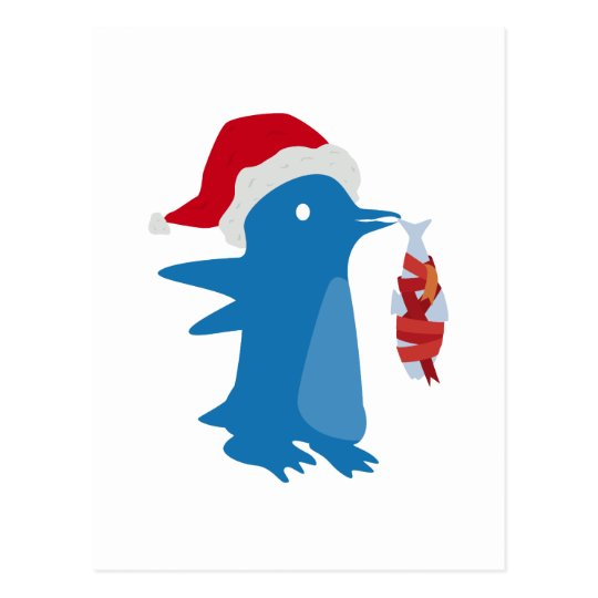 Postal Pingüino del navidad