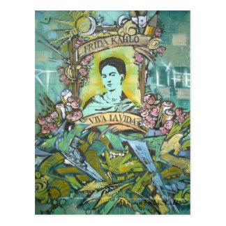 Postal Pintada de Frida Kahlo