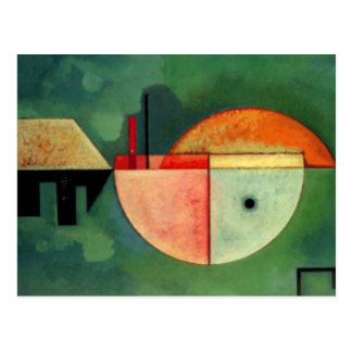 Postal Pintura abstracta ascendente de Kandinsky