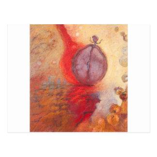 Postal Pintura al óleo del extracto de la danza del fuego