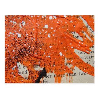 Postal Pintura anaranjada abstracta