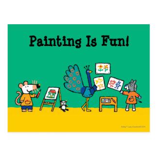 Postal ¡Pintura con Maisy!