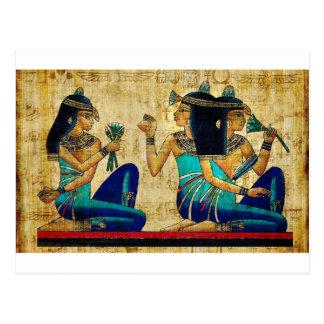 POSTAL PINTURA DE EGIPTO ANTIGUO