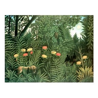 Postal Pintura de Henri Rousseau