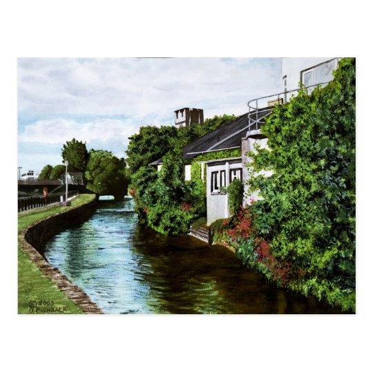 Postal Pintura de la acuarela de Irlanda de la ciudad de