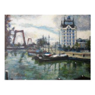 Postal Pintura de la bella arte de Rotterdam de la Casa