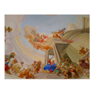 Postal pintura de la iglesia del neresheim de la abadía