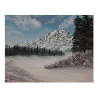 Postal Pintura de la montaña Nevado de Steph
