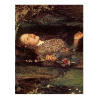 Postal Pintura de Ofelia de la bella arte