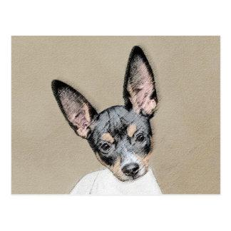 Postal Pintura de Terrier de rata - arte original lindo