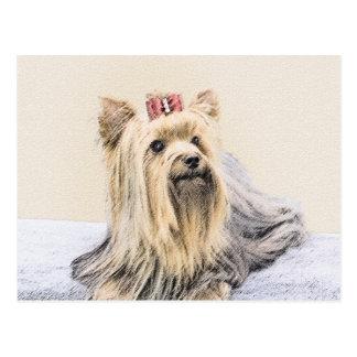 Postal Pintura de Yorkshire Terrier - arte original lindo