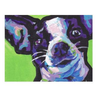 Postal Pintura del arte pop de la chihuahua