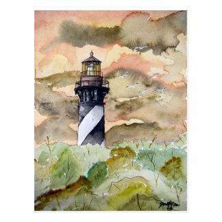 Postal Pintura del faro de St Augustine la Florida