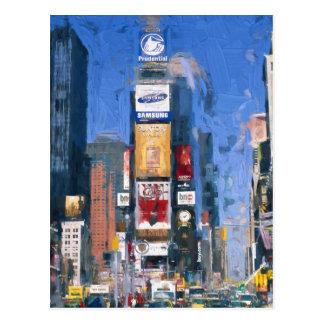 Postal Pintura del Times Square Manhattan Nueva York