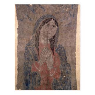 Postal Pintura india de Madonna, 1675 de la piel del