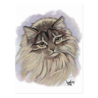 Postal pinturas de gatos