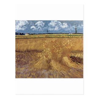 Postal Pinturas de Van Gogh: Campo de trigo de Van Gogh