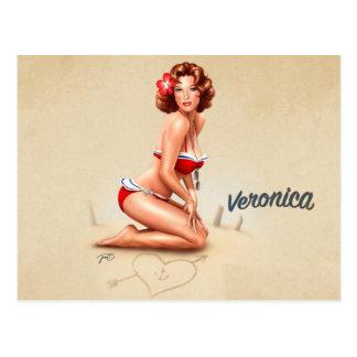 Postal PinUp Veronica