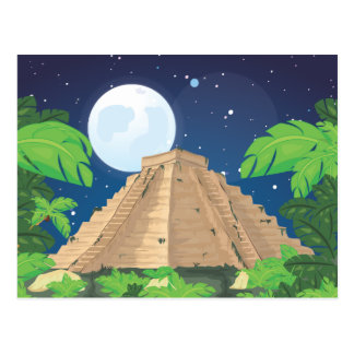 Postal Pirámide azteca