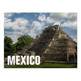 Postal Pirámide maya
