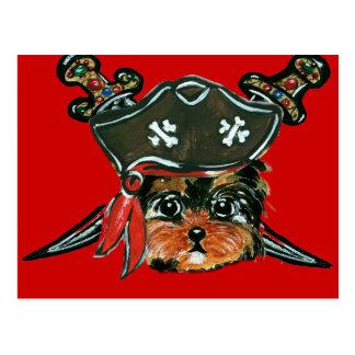 Postal Pirata Yorkie Poo