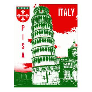 Postal Pisa, Italia - la torre inclinada