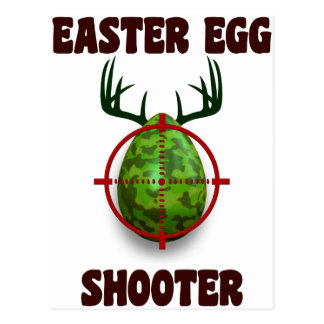 Postal pistola del huevo de Pascua, desgin divertido del