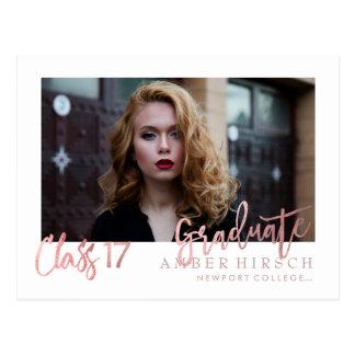 Postal PixDezines 2017 fotos graduadas/falso oro color de