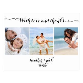Postal PixDezines DIYcolor/las fotos del boda le agradece