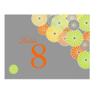 Postal PixDezines Kiku (crisantemo), color de la fruta