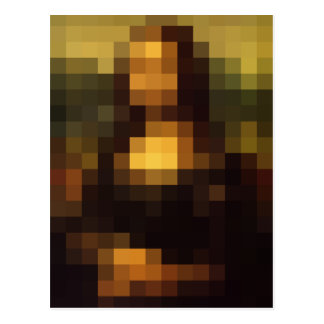 Postal Pixelated Mona Lisa 3