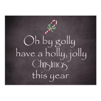 Postal Pizarra: Tenga navidad alegre de un acebo