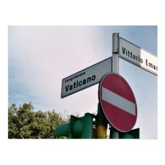 Postal Placa de calle de Vatican