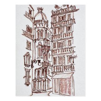 Postal Placa de Manises en la ciudad vieja el | Valencia,