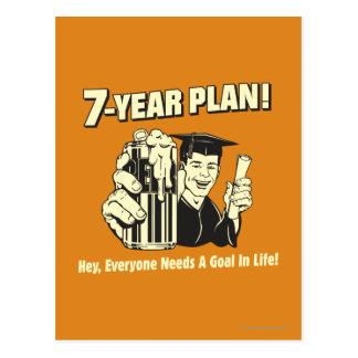 Postal Plan de 7 años: Cada uno necesita una meta