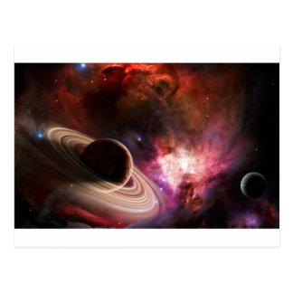 Postal Planeta de la nebulosa del arte del espacio