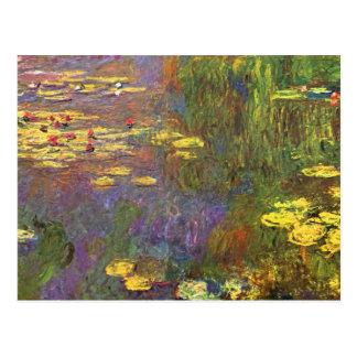 Postal Plantas de agua de Monet Nympheas