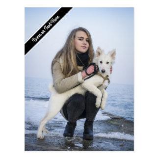 Postal Plantilla de encargo de la foto del perro y del