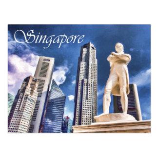 Postal Plataforma de aterrizaje y estatua Singapur de las