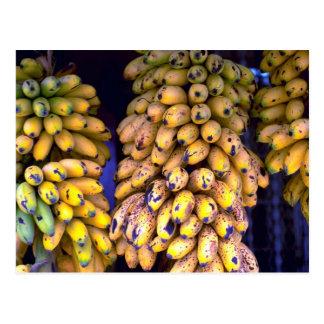 Postal Plátanos para la venta en el mercado, Puerto Rico