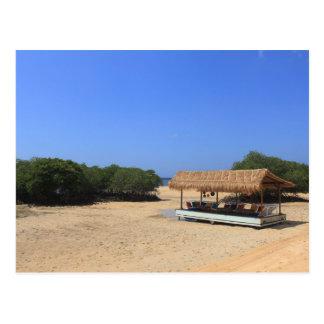 Postal Playa arenosa tropical