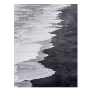 Postal Playa blanco y negro escénica