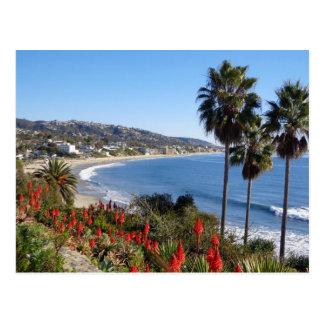 Postal playa California de Laguna