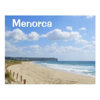 Postal Playa de Bou del hijo de Menorca
