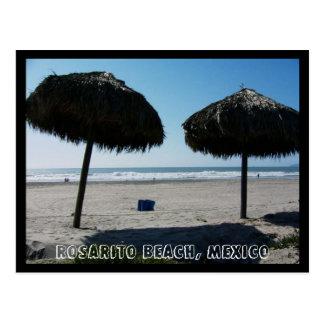 Postal Playa de CA Rosarito, playa de Rosarito, México II