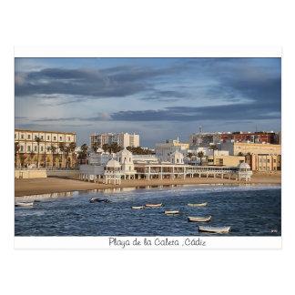 Postal Playa de la Caleta ,Cádiz